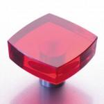 Design Möbelknopf Möbelknauf rot Glas